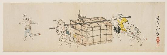 yoda-chikkoku-white-foxes-carrying-a-coffer-c-1840