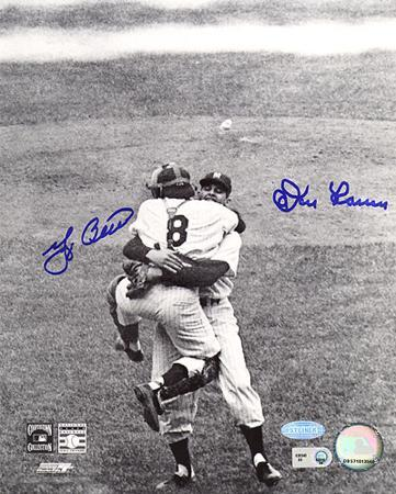 yogi-berra-don-larsen-dual-hug-autographed-photo-hand-signed-collectable