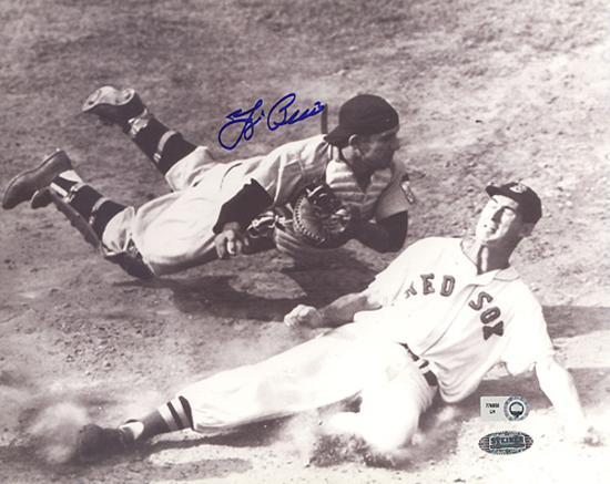 yogi-berra-vs-ted-williams-slide-b-w-autographed-photo-hand-signed-collectable
