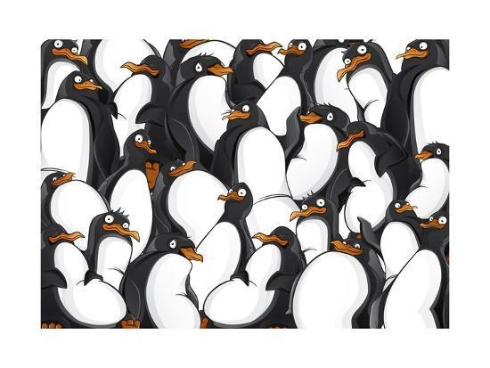 yuanden-penguins-pattern