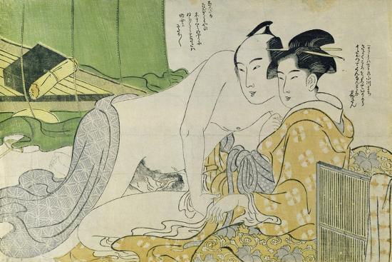 yushido-shunsho-a-shunga-erotic-print-lovers-in-a-tent-c-1785
