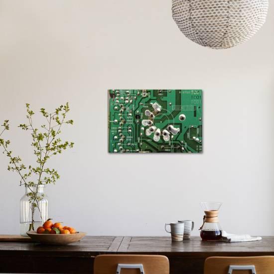 printed circuit board giclee print  art