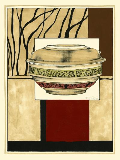 Printed Porcelain Garden II-Jennifer Goldberger-Art Print