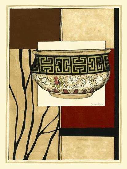 Printed Porcelain Garden IV-Jennifer Goldberger-Art Print