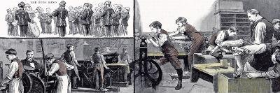 Printing Office and the Carpenters Shop the Anniversary of the Little Boys Home at Farningham and S--Giclee Print