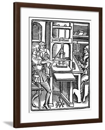 Printing Press, 1511--Framed Giclee Print