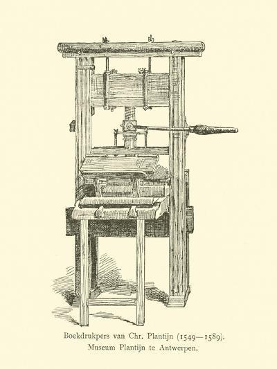 Printing Press of Christophe Plantin--Giclee Print