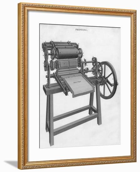 Printing Press--Framed Giclee Print