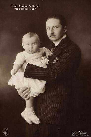 Prinz August Wilhelm V. Preußen Mit Seinem Sohn, Npg--Giclee Print