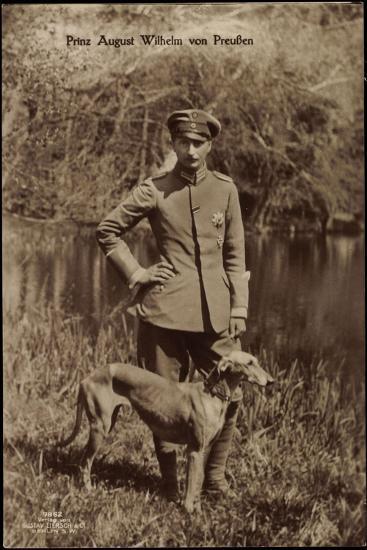 Prinz August Wilhelm Von Preußen, Uniform, Windhund--Giclee Print