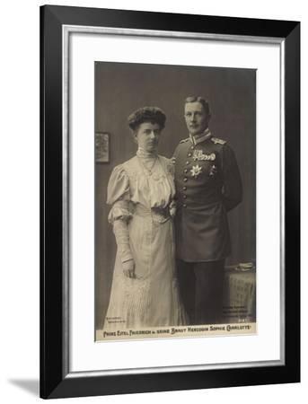 Prinz Eitel Friedrich, Herzogin Sophie Charlotte--Framed Giclee Print