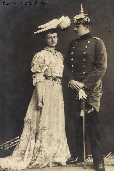 Prinz Eitel Friedrich V. Preußen Mit Frau, Rph 5310--Giclee Print