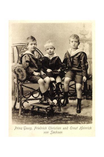 Prinz Georg, Fr. Christian,Ernst Heinrich V. Sachsen--Giclee Print