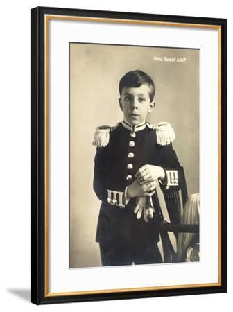 Prinz Gustav Adolf Von Schweden, Uniform, Schweden--Framed Giclee Print