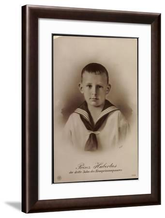 Prinz Hubertus,Dritter Sohn D Kronprinzenpaares, Npg--Framed Giclee Print