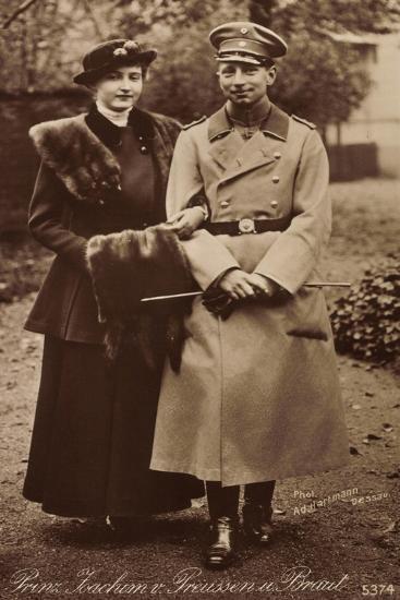 Prinz Joachim Von Preußen Mit Braut, Npg 5374--Giclee Print