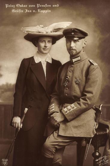 Prinz Oskar Von Preußen, Gräfin Ina V. Ruppin, Npg--Giclee Print