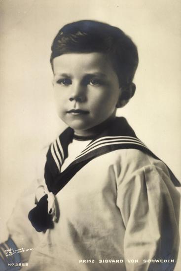 Prinz Sigvard Von Schweden, Matrosenanzug, Portrait--Giclee Print