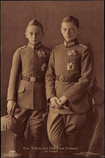Prinz Wilhelm, Prinz Louis Ferdinand Von Preußen--Giclee Print
