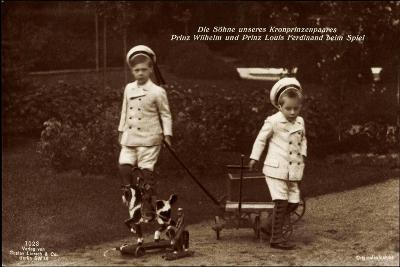 Prinz Wilhelm Und Louis Ferdinand Beim Spiel, 7023--Giclee Print