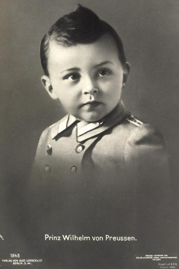 Prinz Wilhelm Von Preußen in Uniform--Giclee Print