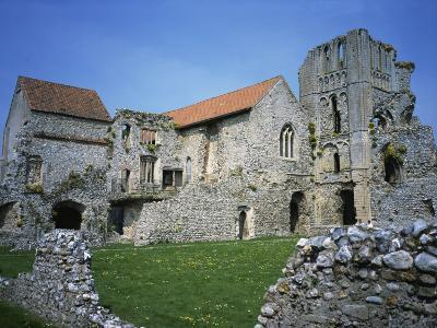 Priors Chapel and Tower from Cloister, Castle Acre Priory, Norfolk, England, United Kingdom, Europe-Hunter David-Photographic Print