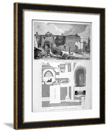 Priory of Holy Trinity, Duke's Place, City of London, 1825-William Taylor-Framed Giclee Print