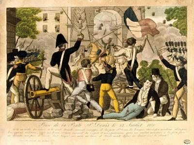 Prise De La Porte St Denis Le 28th Juillet 1830, Revolution of 1830, Paris--Giclee Print