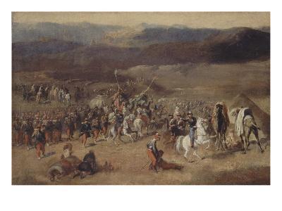 Prise de la smala d'Abd-el-Kader par le duc d'Aumale, 1843-Horace Vernet-Giclee Print