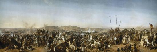 Prise de la Smala d'Abd-el-Kader par le duc d'Aumale à Taguin , le 16 mai 1843-Horace Vernet-Giclee Print