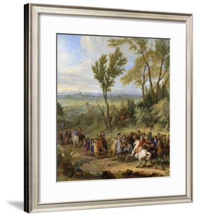 Prise de Leewe en Brabant par Louis XIV, 4 mai 1678-der Meulen Adam Frans Van-Framed Giclee Print