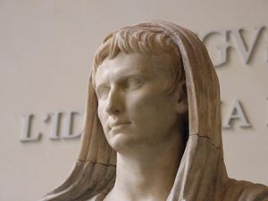 First Emperor of the Roman Empire, Marble Statue, Roman National Museum, Rome, Italy by Prisma Archivo