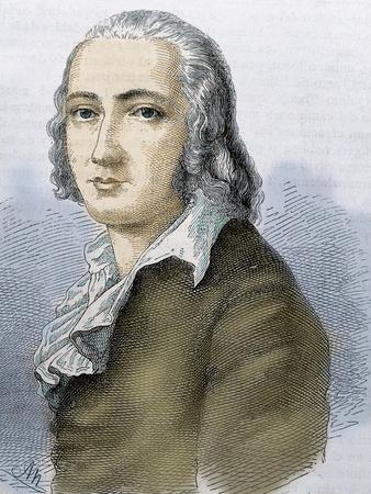 Friedrich Holderlin (Lauffen-Am-Neckar, 1770, Tubingen, 1843). German Lyric Poet