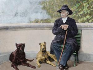 Otto-Leopold Bismarck, Prince of Bismarck (1815-1898). German Statesman. Bismarck in Friedrichruhe by Prisma Archivo