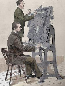 Typographic Composing New Machine by W. Meyer for 'Artistic Illustration', 1885 by Prisma Archivo