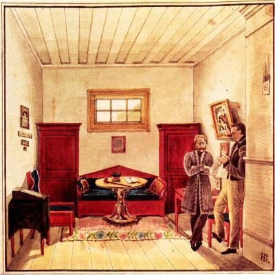 Prison Cell of Decembrist Nikolai Panov (1803-185) in the Peter Prison, 1830-1839-Nikolai Alexandrovich Bestuzhev-Giclee Print