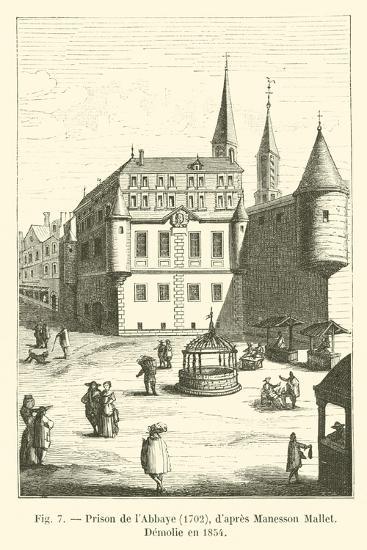Prison De L'Abbaye, 1702, D'Apres Manesson Mallet, Demolie En 1854--Giclee Print