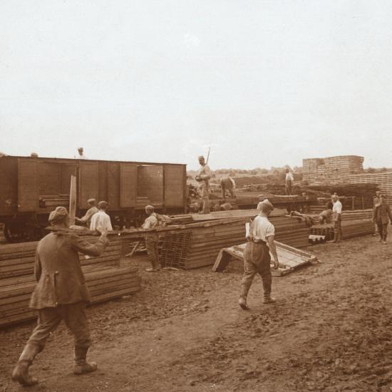 Prisoners, Genicourt, northern France, c1914-c1918-Unknown-Photographic Print
