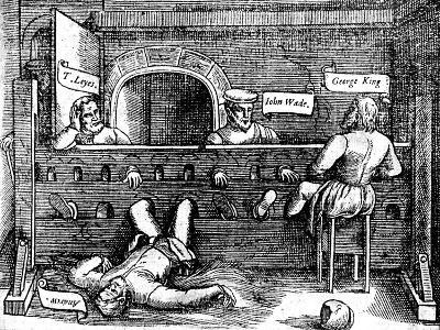 Prisoners in the Lollards' Tower, 1550s--Giclee Print