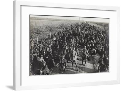 Prisoners on the Road in Palmanova--Framed Photographic Print