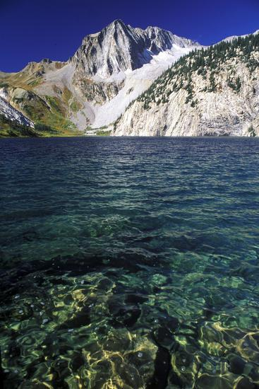 Pristine Glacial Water at Snowmass Lake, with Snowmass Mountain in the Background-Keith Ladzinski-Photographic Print