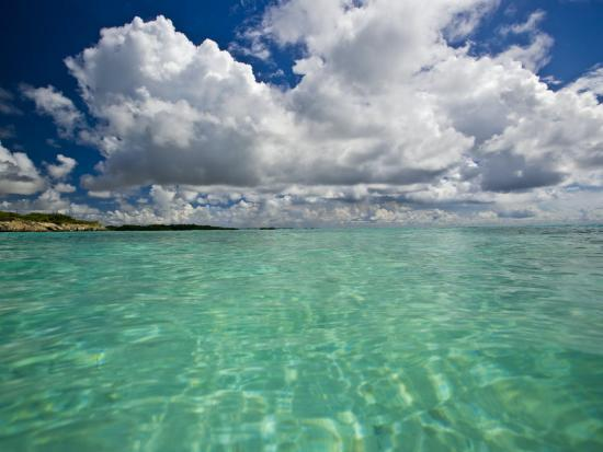 Pristine Turquoise Water Off the Coast of Aruba-Michael Melford-Photographic Print