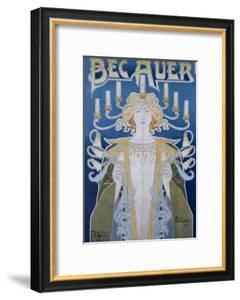 Bec Auer, Belgium, 1896 by Privat Livemont