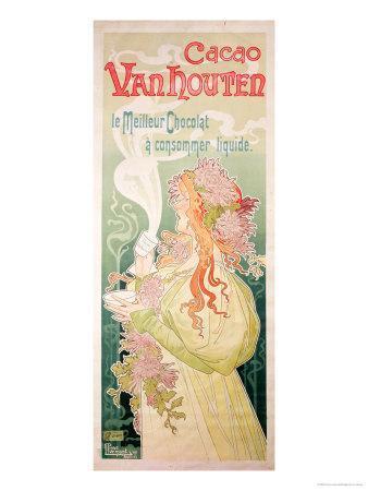 Poster Advertising Cacao Van Houten, Belgium, 1897