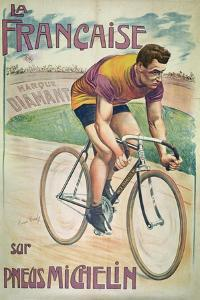 Poster Advertising Cycles 'La Francaise' on 'Michelin' Tyres by Privat Livemont