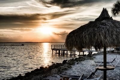 Private Beach at Sunset-Philippe Hugonnard-Photographic Print
