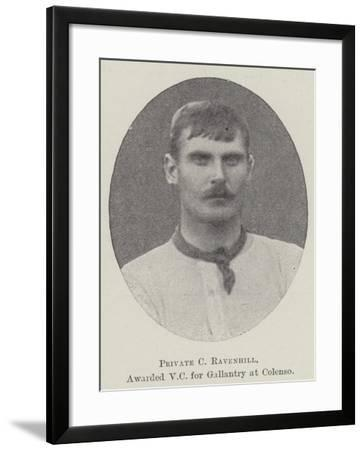 Private C Ravenhill, Awarded VC for Gallantry at Colenso--Framed Giclee Print
