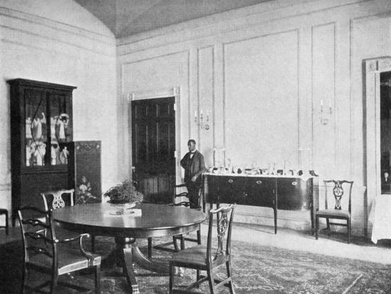 Private Dining Room At The White House Washington Dc USA 1908 Giclee Print By