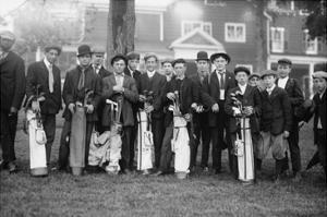 Private Golf Club Caddies at Baltusrol in New Jersey