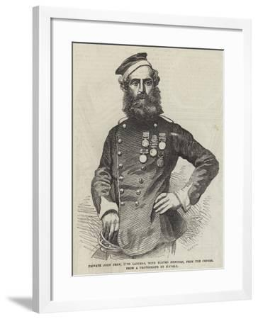 Private John Penn, 17th Lancers, with Eleven Honours, from the Crimea--Framed Giclee Print
